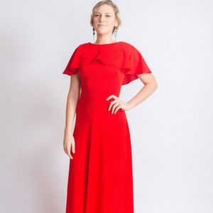 Dresses & Skirts - Vintage + Handmade Red Gown